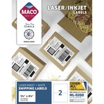 lowered prices on maco multipurpose self-adhesive mailing labels - professional customer support - sku: macml0200