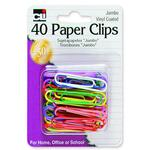 charles leonard vinyl coated jumbo paper clips - sku: leo80050 - outstanding customer support staff