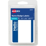 huge selection of avery red border print or write name badge labels  - professional customer care team - sku: ave06175