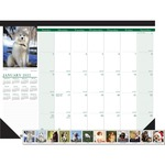 doolittle eco-friendly puppies calendar desk pad - us-based customer support staff - sku: hod199