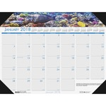doolittle eco-friendly sea life calendar desk pads - shop with us and save - sku: hod1936