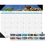 doolittle eco-friendly sea life calendar desk pads - sku: hod193 - us-based customer service