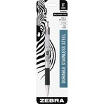 lowered prices on zebra stainless steel retractable. ballpoint pen w grip - toll-free customer service - sku: zeb27101