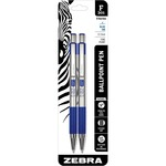 order zebra stainless steel retractable. ballpoint pen w grip - discount pricing - sku: zeb27122