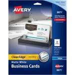 avery clean edge two side inkjet business cards - sku: ave8871 - professional customer care