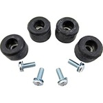 "Base Pad Kit; (4) 5/8"" screw on rubber feet & screws PK-17-1007"