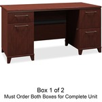 lowered prices on bush enterprise coll. harvest cherry desk ensemble - you pay no shipping - sku: bsh2960csa103