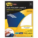 get 3m post-it super sticky removable file folder labels - ulettera fast shipping - sku: mmm2100f