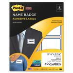 lower prices on 3m post-it super sticky name badge labels w border - great selection - sku: mmm2800o