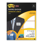 search for 3m post-it super sticky name badge labels - great selection - sku: mmm2800n