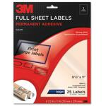 buy 3m perm. full sheet inkjet clear adhesive labels - wide selection