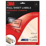 huge selection of 3m permanent full sheet inkjet clear adhesive labels - us-based customer care - sku: mmm3500m