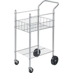 wide assortment of fellowes double-basket wire mail cart - free and quick delivery - sku: fel4092001