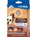 dixon lyra giant large diameter colored pencils - sku: dix3931124 - excellent prices