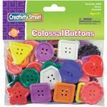 chenille kraft extra large plastic colosal buttons - sku: ckc6090 - shop and save