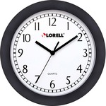 find lorell 9  round profile wall clock - top notch customer support team - sku: llr60987