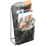 buy safco steel mesh magazine rack - large variety - sku: saf5640bl