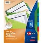 avery plastic pocket insertable tab dividers - sku: ave11903 - new  lower prices