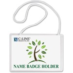 c-line biodegradable name badge kit  - sku: cli97043 - great bargains