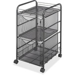 safco double mesh mobile file cart - delivery is fast   free - sku: saf5212bl