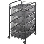 safco tubular steel frame mobile file cart - sku: saf5214bl - quick  free delivery
