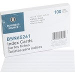 find business source ruled white index cards - new  lower pricing - sku: bsn65261