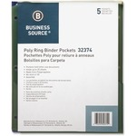 pick up business source poly binder pockets - great prices - sku: bsn32374