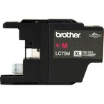 large supply of brother lc75bk c m y ink cartridges - ships quickly - sku: brtlc75m