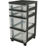 shop for iris mini clear plastic storage cart - top notch customer service staff - sku: irs116827