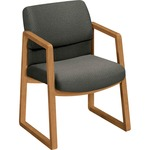 hon hardwood sled-base guest chairs - professional customer care staff - sku: hon2403cab12