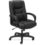 discounted pricing on basyx executive high-back pneumatic vinyl chair - free   quick delivery - sku: bsxvl131en11