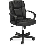 shop for basyx executive pneumatic mid-back leather chair - delivery is quick and free - sku: bsxvl171sb11