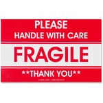 order tatco fragile handle with care shipping label - fast shipping - sku: tco10951