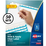 large supply of avery prepunched index maker dividers w  tabs - free   rapid shipping - sku: ave11556