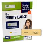 need some imprint plus mighty badge gold inkjet name badges  - fast  free delivery - sku: ipp2815