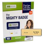 buy imprint plus mighty badge gold laser name badges - you pay no shipping - sku: ipp2822