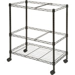 large supply of lorell two-tier mobile wire file cart - extensive selection - sku: llr45650