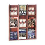 shop for buddy 9lit 18 pamphlet acrylic oak literature rack - ships for free - sku: bdy064317