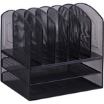 buying lorell sturdy horizontal vertical mesh desk organizer - excellent customer support - sku: llr37523