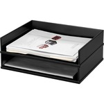 buying victor midnight black collection stacking letter tray - super fast delivery - sku: vct11545