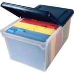 shopping online for advantus extra-capacity file tote with lid - us-based customer service team - sku: avt55797