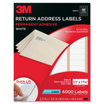 3m return address labels - sku: mmm3100o - shop here and save money
