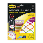 find 3m post-it super sticky designer id labels - low prices - sku: mmm3900v