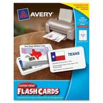 purchase avery 3x5 custom print flash cards - extensive selection - sku: ave04750