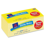 find avery regular yellow removable adhesive note pads - discounted pricing - sku: ave22727