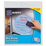 avery peel   stick dry-erase decals - excellent customer support team - sku: ave24314