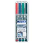 get the lowest prices on staedtler lumocolor fine point waterbased markers  - giant selection - sku: std316wp4a6