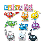 search for carson fuzzy color critters bulletin board set - outstanding customer service team - sku: cdp110173
