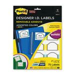 3m post-it super sticky removable designer id labels - sku: mmm3900u - us-based customer care staff