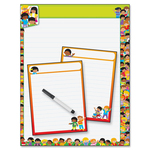 order trend three-chart dry-erase board chart kit - extensive selection